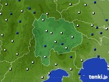 2020年06月10日の山梨県のアメダス(風向・風速)