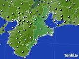 2020年06月10日の三重県のアメダス(風向・風速)