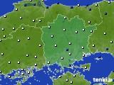 岡山県のアメダス実況(風向・風速)(2020年06月10日)