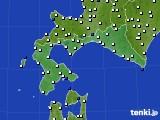 2020年06月10日の道南のアメダス(風向・風速)