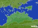2020年06月10日の香川県のアメダス(風向・風速)