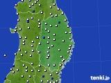 岩手県のアメダス実況(風向・風速)(2020年06月10日)