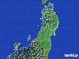 東北地方のアメダス実況(降水量)(2020年06月11日)