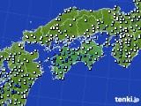 2020年06月11日の四国地方のアメダス(降水量)