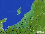 新潟県のアメダス実況(降水量)(2020年06月11日)