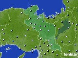 2020年06月11日の京都府のアメダス(降水量)