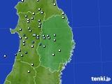 2020年06月11日の岩手県のアメダス(降水量)
