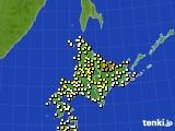 2020年06月11日の北海道地方のアメダス(気温)