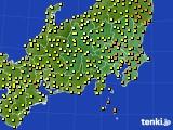 2020年06月11日の関東・甲信地方のアメダス(気温)
