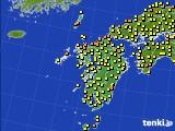 2020年06月11日の九州地方のアメダス(気温)