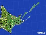 道東のアメダス実況(気温)(2020年06月11日)