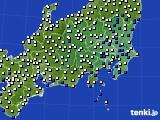 2020年06月11日の関東・甲信地方のアメダス(風向・風速)