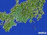 2020年06月11日の東海地方のアメダス(風向・風速)