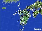 九州地方のアメダス実況(風向・風速)(2020年06月11日)