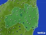 福島県のアメダス実況(風向・風速)(2020年06月11日)