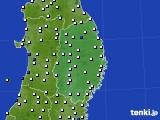 2020年06月11日の岩手県のアメダス(風向・風速)