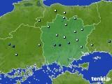 岡山県のアメダス実況(降水量)(2020年06月12日)