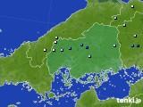 広島県のアメダス実況(降水量)(2020年06月12日)