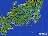 関東・甲信地方のアメダス実況(日照時間)(2020年06月12日)