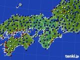 2020年06月12日の近畿地方のアメダス(日照時間)