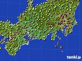 2020年06月12日の東海地方のアメダス(気温)