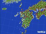 2020年06月12日の九州地方のアメダス(気温)