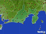 静岡県のアメダス実況(気温)(2020年06月12日)