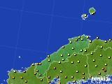 島根県のアメダス実況(気温)(2020年06月12日)