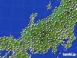 2020年06月12日の北陸地方のアメダス(風向・風速)