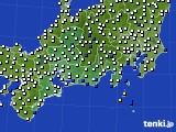 2020年06月12日の東海地方のアメダス(風向・風速)