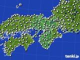 2020年06月12日の近畿地方のアメダス(風向・風速)