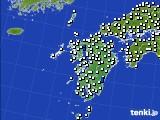 九州地方のアメダス実況(風向・風速)(2020年06月12日)