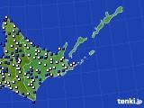 道東のアメダス実況(風向・風速)(2020年06月12日)