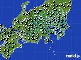 関東・甲信地方のアメダス実況(降水量)(2020年06月13日)