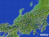 北陸地方のアメダス実況(降水量)(2020年06月13日)