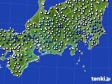 2020年06月13日の東海地方のアメダス(降水量)