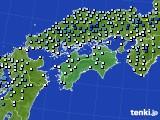 四国地方のアメダス実況(降水量)(2020年06月13日)