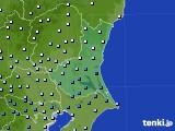 茨城県のアメダス実況(降水量)(2020年06月13日)
