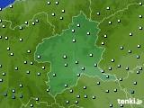 群馬県のアメダス実況(降水量)(2020年06月13日)