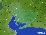 愛知県のアメダス実況(降水量)(2020年06月13日)