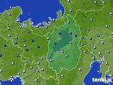 滋賀県のアメダス実況(降水量)(2020年06月13日)