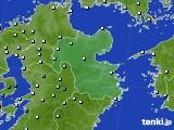 大分県のアメダス実況(降水量)(2020年06月13日)