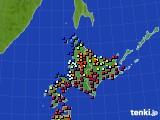 北海道地方のアメダス実況(日照時間)(2020年06月13日)
