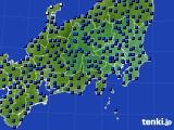 関東・甲信地方のアメダス実況(日照時間)(2020年06月13日)