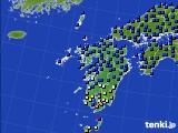 九州地方のアメダス実況(日照時間)(2020年06月13日)