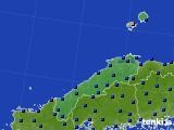 2020年06月13日の島根県のアメダス(日照時間)