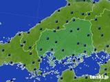 2020年06月13日の広島県のアメダス(日照時間)