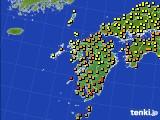 九州地方のアメダス実況(気温)(2020年06月13日)