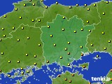 岡山県のアメダス実況(気温)(2020年06月13日)
