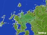 2020年06月13日の佐賀県のアメダス(気温)